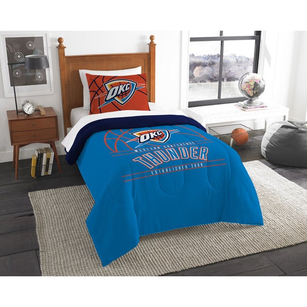 Merveilleux The Northwest Company NBA Oklahoma City Thunder Reverse Slam Twin 2 Piece  Comforter Set