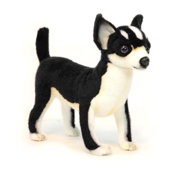 Hansa Black and White Chihuahua Plush Toy