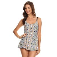 Famous Maker Women's Multi Tiles 1-piece Swim Dress