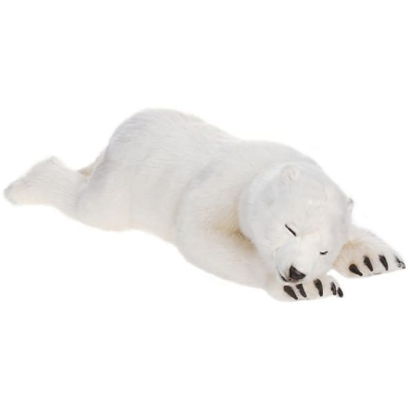 Hansa Large Sleeping Polar Cub Plush Toy