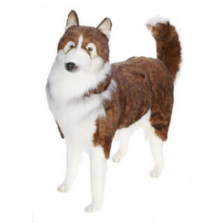 Hansa Life Size Husky Dog Plush Toy