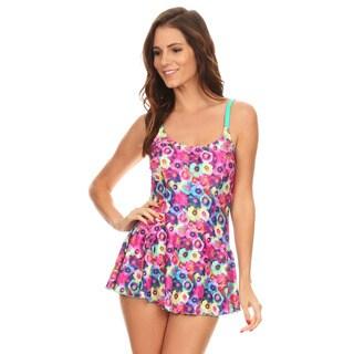 Famous Maker Women's Floral Spandex One Piece Swimdress