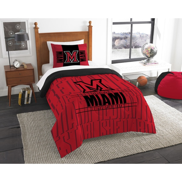 The Northwest Company COL 862 Miami Ohio Modern Take Multicolor Polyester Twin 2- piece Comforter Set