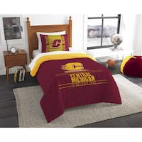 The Northwest Company COL 862 Central Michigan Modern Take 2-piece Twin Comforter Set