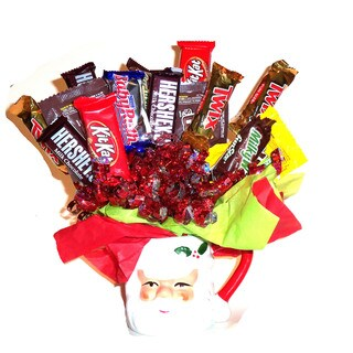 Santa Candy Bouquet Mug