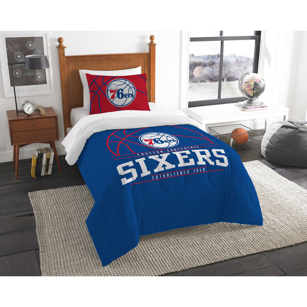 The Northwest Company NBA Philadelphia 76ers Reverse Slam Twin 2-piece Comforter Set