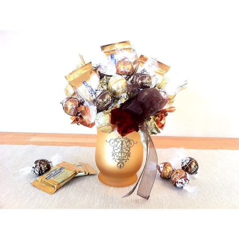 Chocolate Bouquet in a Decorative Vase