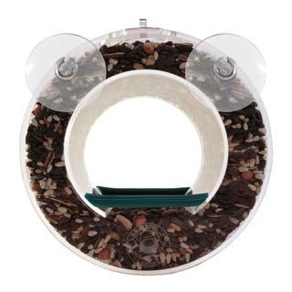 Grateful Gnome Double Circular Window Bird Feeder