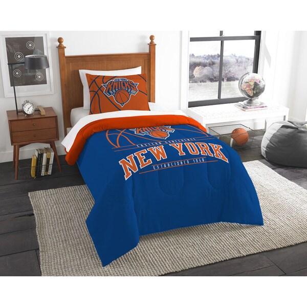 The Northwest Co NBA New York Knicks Reverse Slam Twin 2-piece Comforter Set