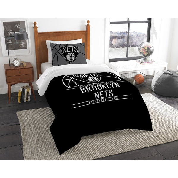 The Northwest Company NBA Brooklyn Nets Reverse Slam Twin 2-piece Comforter Set