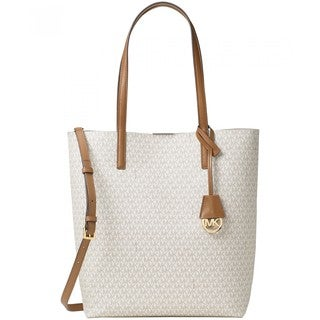 Michael Kors Hayley Off-white PVC Large North South Tote
