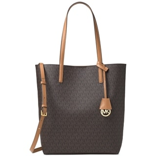 Michael Kors Hayley Brown/Peanut Large North South Tote