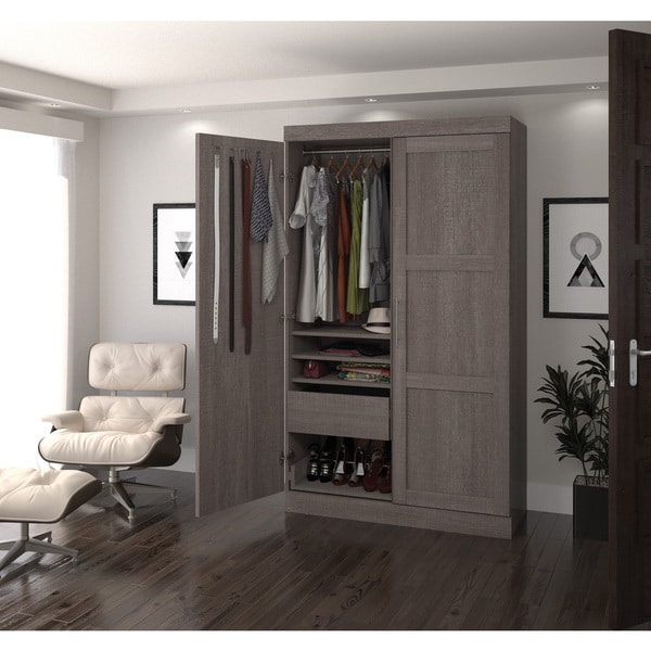 Pur by Bestar 2-door Armoire with Pullout Shoe Rack - Free ...