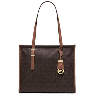 Michael Kors Darien Brown PVC Medium Tote
