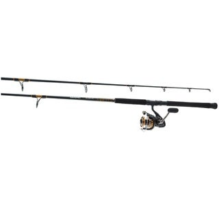 Daiwa BG Black Aluminum Oxide Pre-mounted Saltwater Spinning Combo