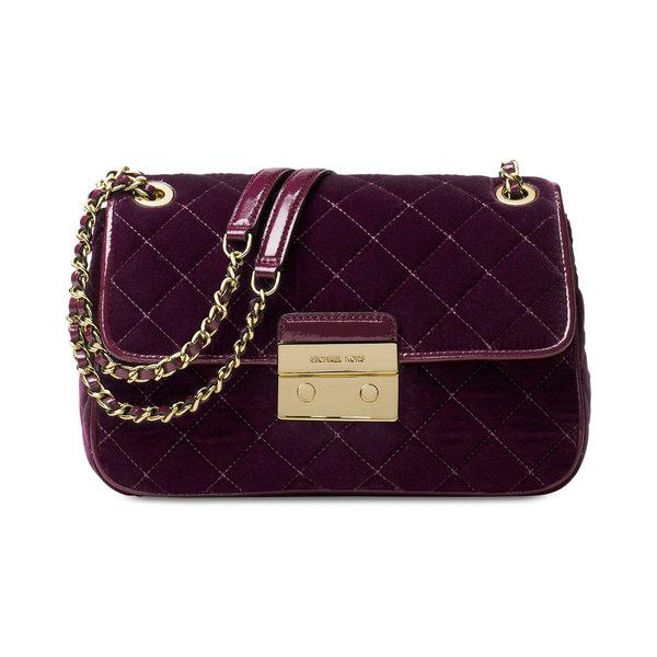 a8d4c78b5529 Shop Michael Kors Sloan Plum Large Chain Shoulder Bag - Free ...