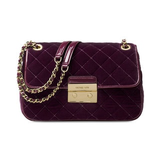 Michael Kors Sloan Plum Large Chain Shoulder Bag