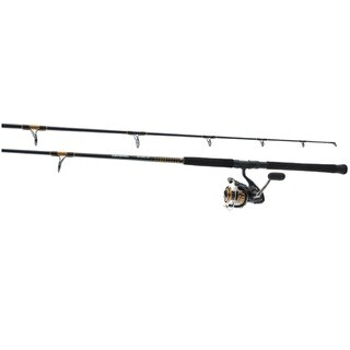 Daiwa Black Aluminum Pre-mounted Saltwater 9-foot Offshore Spinning Combo