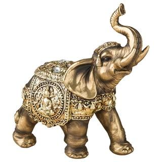 Bronze Elephant Polyresin Figurine