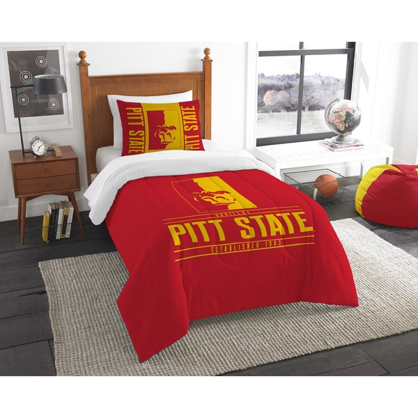 The Northwest Company COL 862 Pittsburgh State Modern Take 2-piece Twin Comforter Set