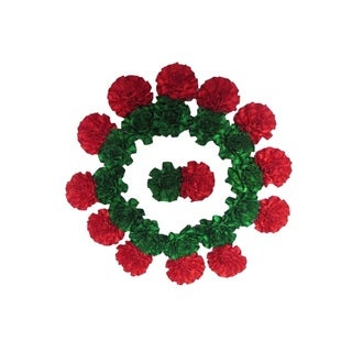 100% Love Christmas Girls' Flower Barrette With Durable Alligator Clip