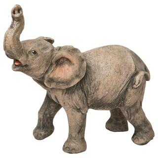 Elephant Natural-looking Mini Figurine (Option: Grey)