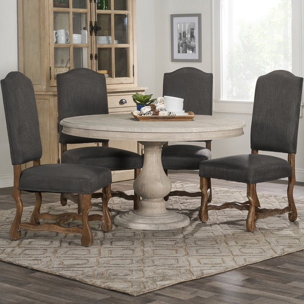 Wakefield Reclaimed Wood Grey Round Dining Table By Kosas