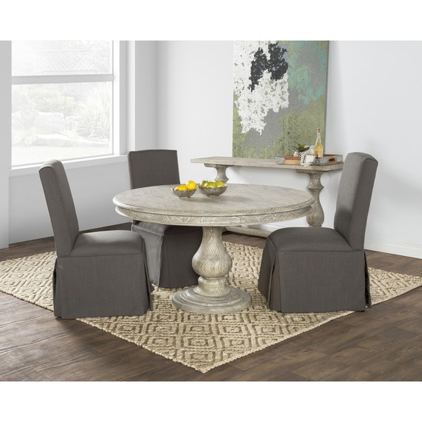 Wakefield Reclaimed Wood Grey Round Dining Table By Ko.