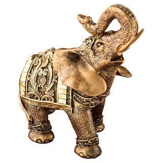 Gold-tone Elephant Polyresin Figurine