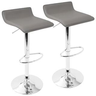 Contemporary Ale Adjustable Barstools (Set of 2)