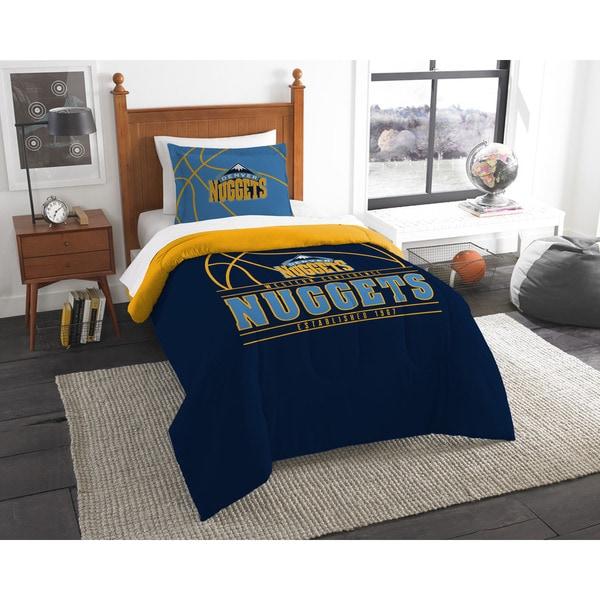 The Northwest Company NBA Denver Nuggets Reverse Slam Twin 2-piece Comforter Set