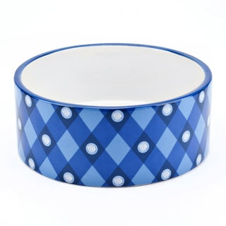 AKC Blue 6-inch AKC Logo-print Pet Bowl