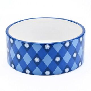 AKC Blue 6-inch AKC Logo-print Pet Bowl