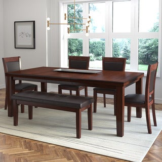 CorLiving 6-Piece Extendable Dining Set