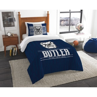 The Northwest Co. COL 862 Butler Modern Take Blue and White Polyester 2-piece Twin Comforter Set