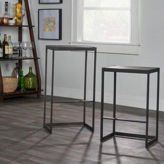 Kosas Home Grey Iron/Wood Barstool
