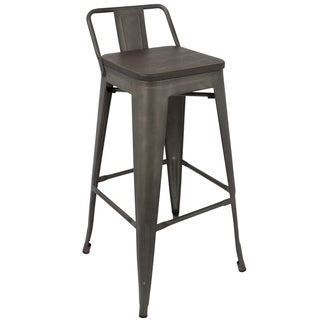 Oregon Industrial Low Back 30 inch Barstool by LumiSource - Set of 2
