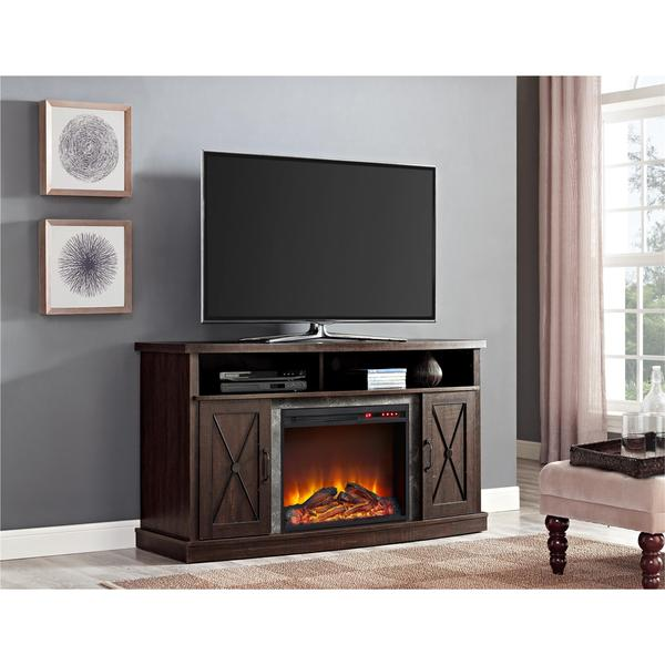 Ameriwood Home Barrow Creek Fireplace 60 inch Console Free