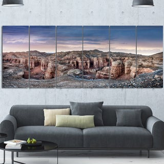 Designart 'Charyn Canyon In Kazakhstan' Extra Extra Large Landscape Wall Art Print Canvas