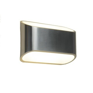 Bruck Lighting Eclipse 1 1-light Wall Sconce with Brushed Aluminum Outer/White Inner Shade