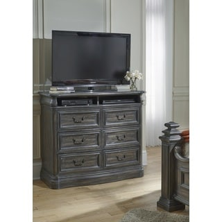 Progressive Terracina Oak/Grey-finish Wood Media Chest