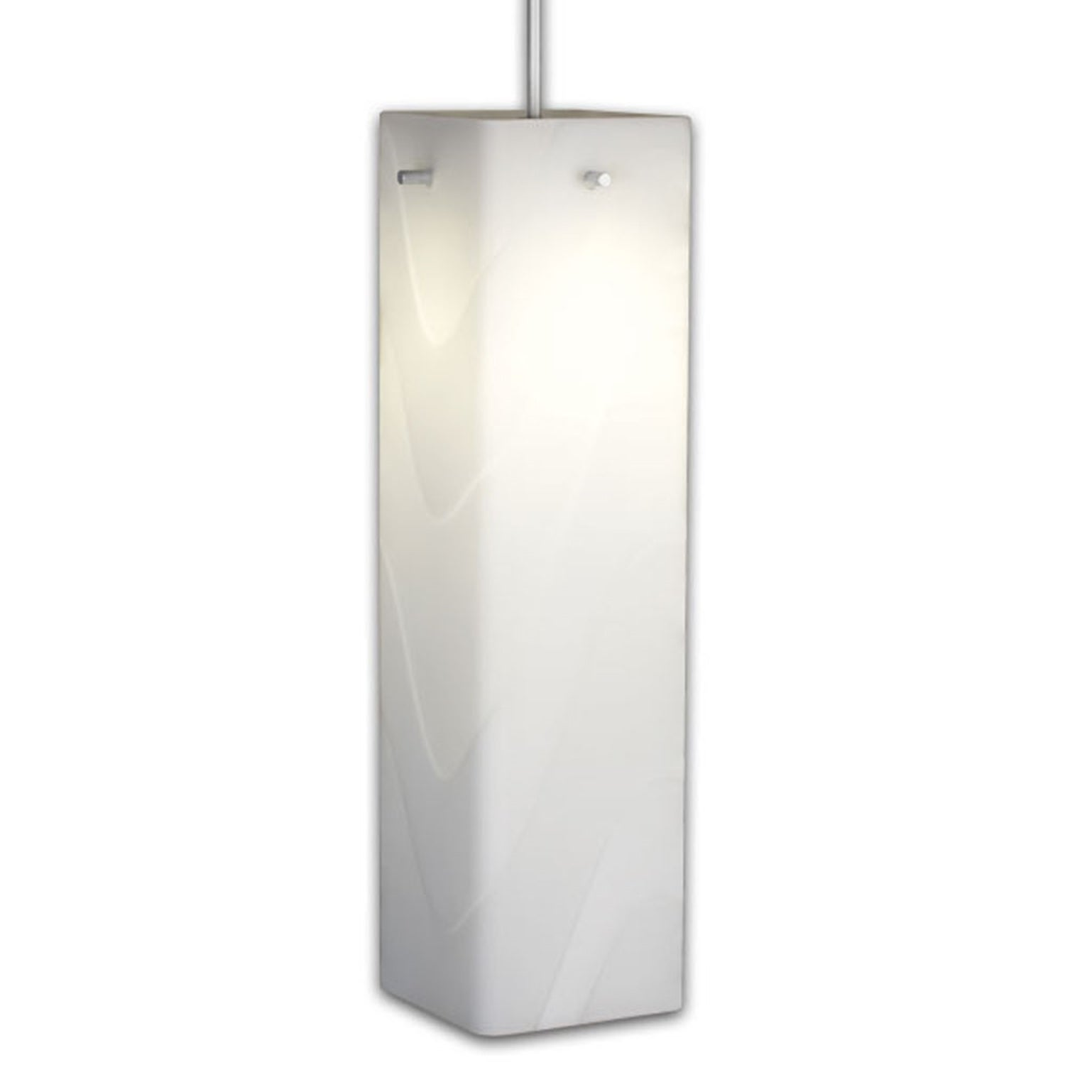 Bruck Lighting Houston 1 Light Low Voltage 4 Inch Canopy Matte Chrome Pendant With White Gl Shade