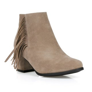 Fahrenheit Lida-09 Women's Fringe Ankle Booties