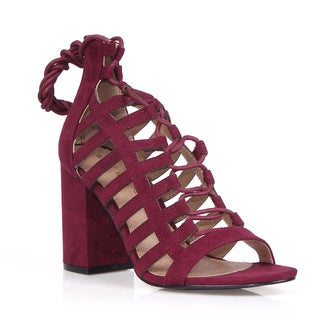 Mark and Maddux Arvin-01 Strappy Women's Caged High Heel Sandals