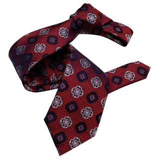 Dmitry Men's Burgundy Silk Italian Patterned Tie