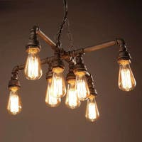 Twinkle Antique Bronze 18-inch Edison Light Chandelier with Bulbs