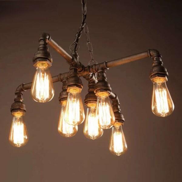 Chandelier With Edison Bulbs: Shop Twinkle Antique Bronze 18-inch Edison Light