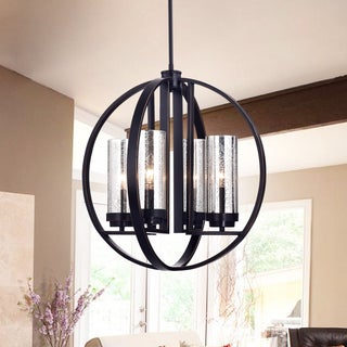 Warehouse of Tiffany Yuval Oil Rubbed Bronze Metal/Glass 19-inch Round Pendant Light