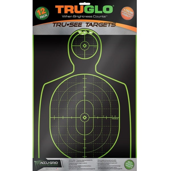 TruGlo Tru-See Splatter 12 x 18 Handgun Target (12-pack)