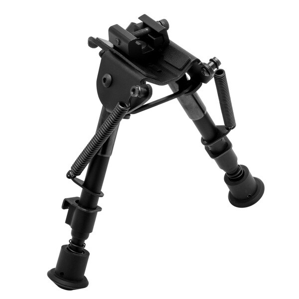 TruGlo Tac-Pod Black Metal Adjustable Bipod Fixed Base with Adapter